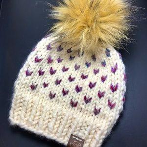 Flurries Fair Isle Winter Beanie Little Hearts Hat